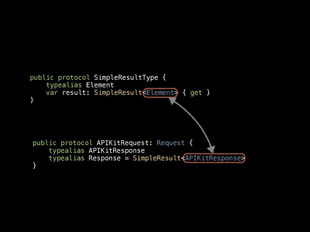 public protocol SimpleResultType { typealias El...