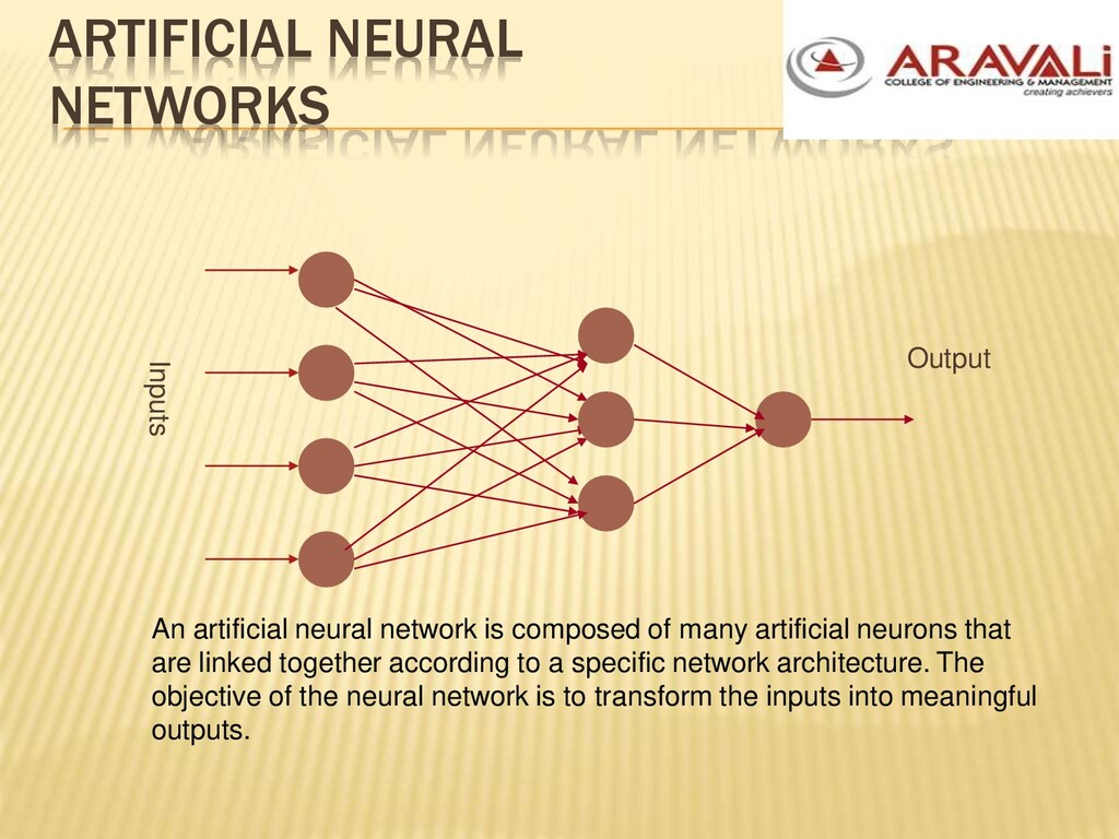 ARTIFICIAL NEURAL NETWORKS Inputs Output An art...