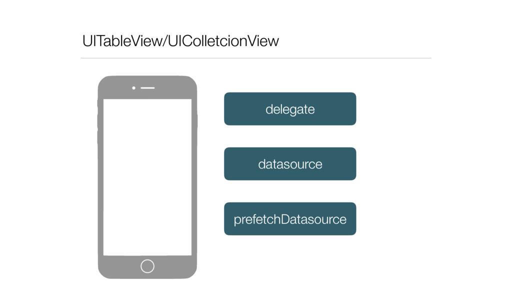 UITableView/UIColletcionView datasource delegat...