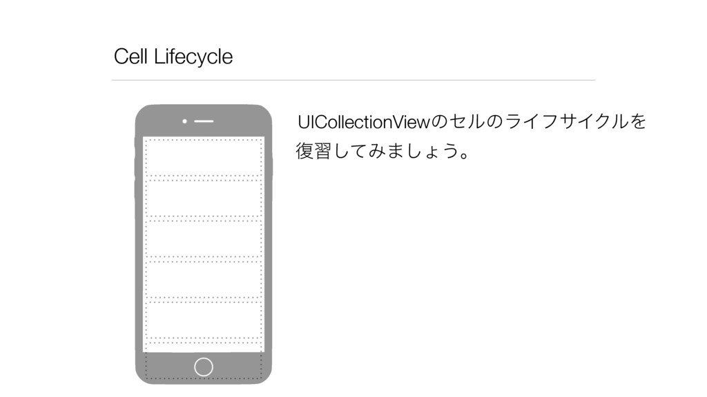 Cell Lifecycle UICollectionViewͷηϧͷϥΠϑαΠΫϧΛ ෮श͠...