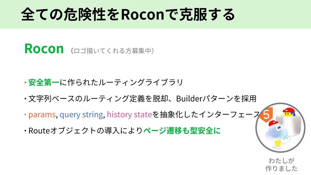 全ての危険性をRoconで克服する Rocon (ロゴ描いてくれる⽅募集中) – 安全第⼀に作...