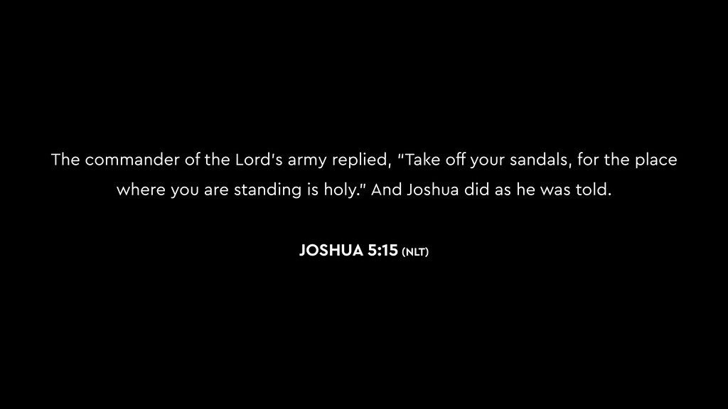 """The commander of the Lord's army replied, """"Take..."""