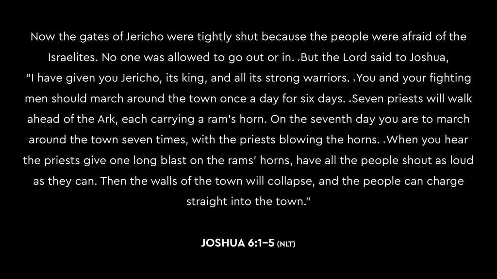 Now the gates of Jericho were tightly shut beca...