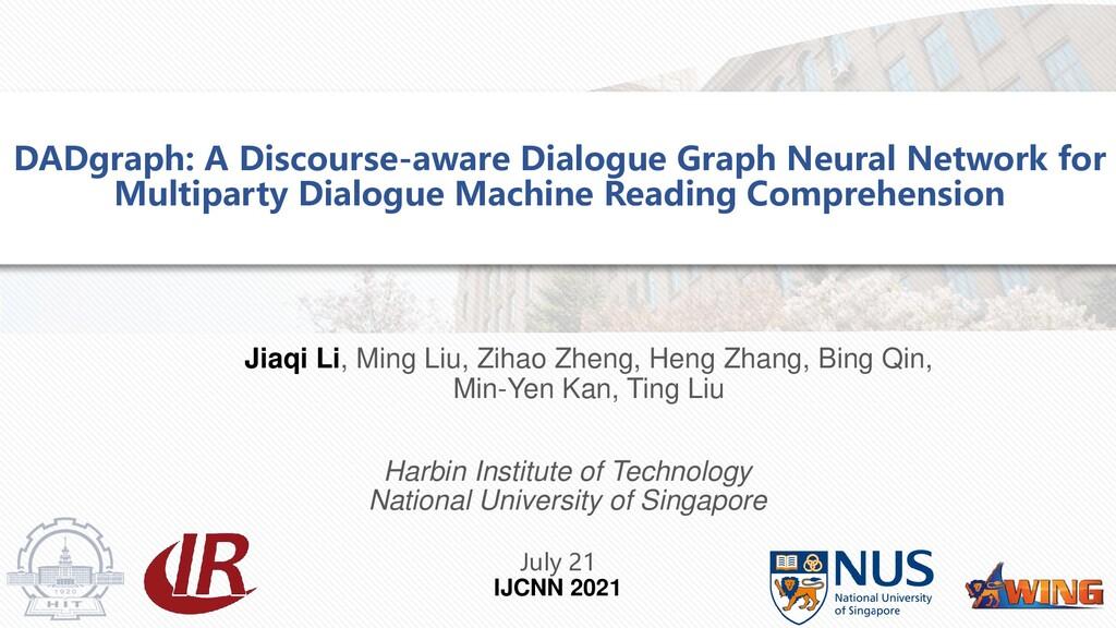 Jiaqi Li, Ming Liu, Zihao Zheng, Heng Zhang, Bi...