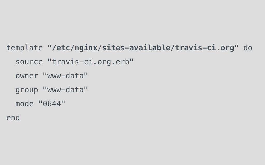 "template ""/etc/nginx/sites-available/travis-ci...."