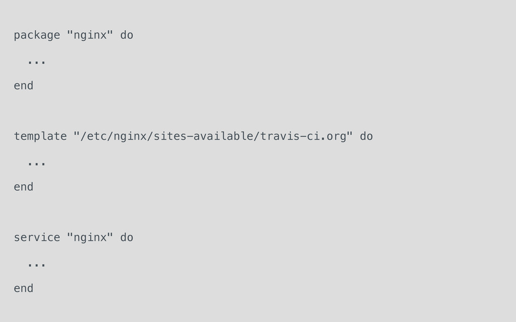 """package """"nginx"""" do ... end template """"/etc/nginx..."""