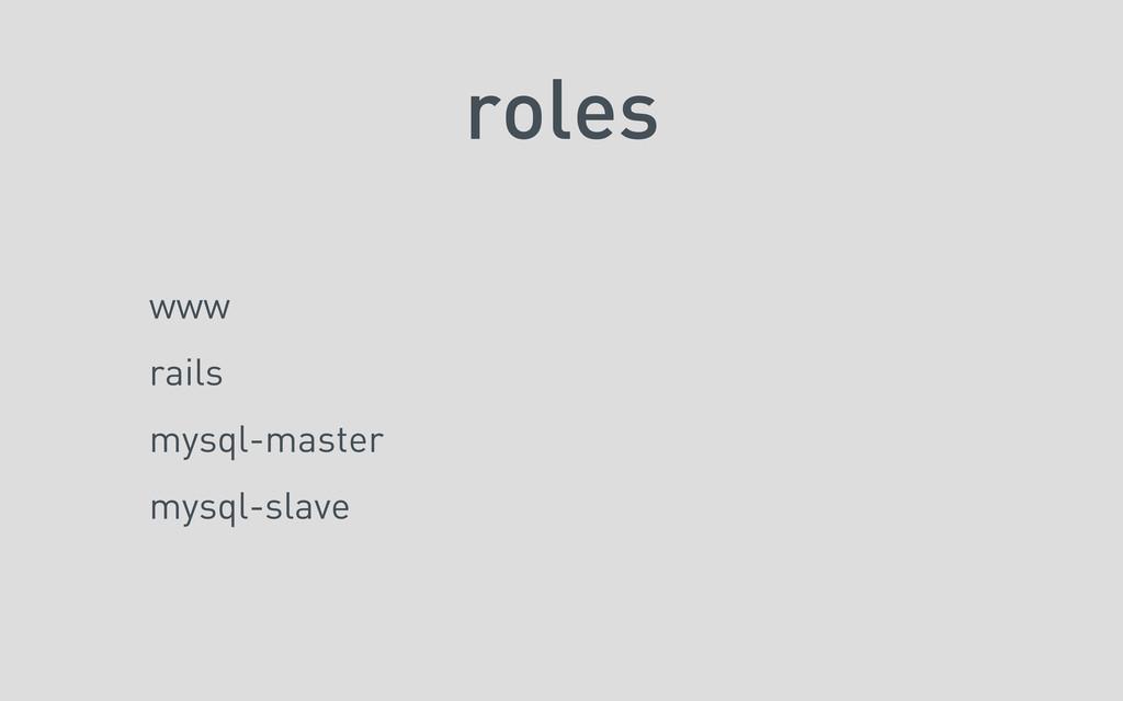 roles www rails mysql-master mysql-slave