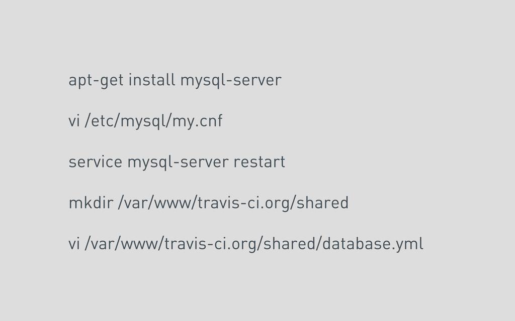 apt-get install mysql-server vi /etc/mysql/my.c...
