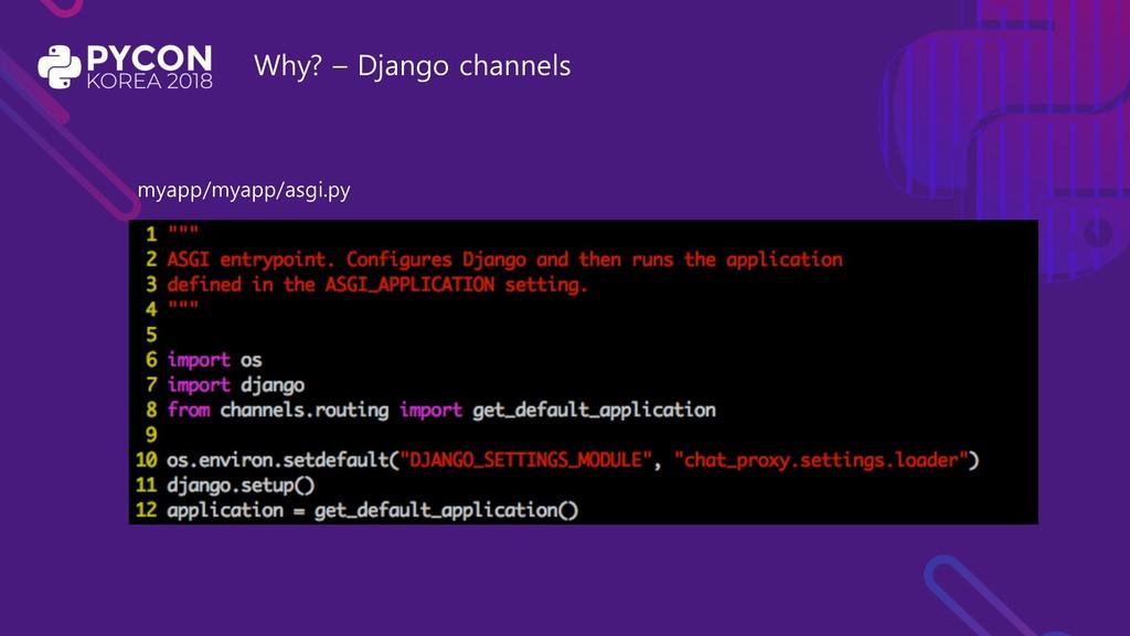 Why? – Django channels myapp/myapp/asgi.py
