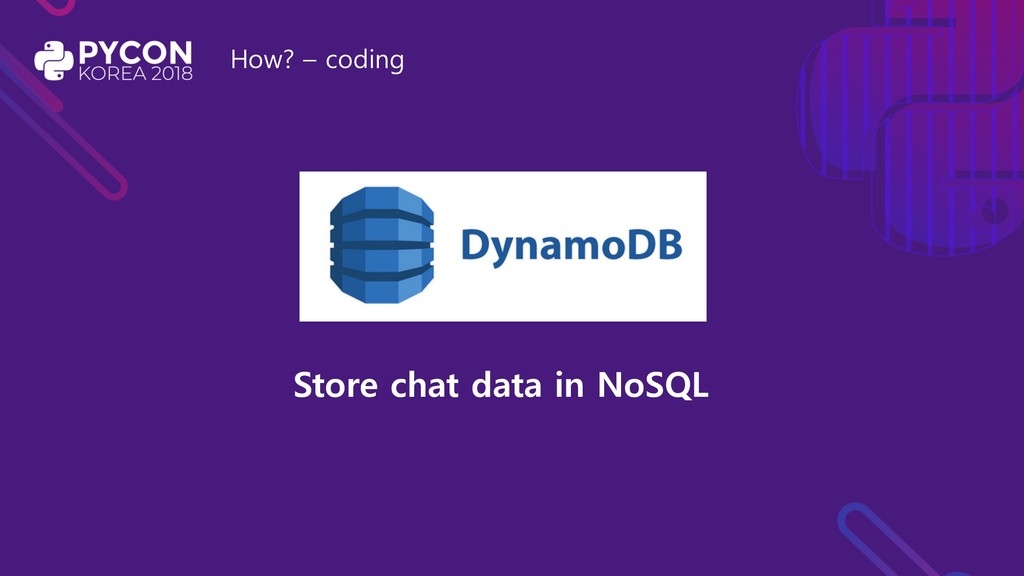 How? – coding Store chat data in NoSQL