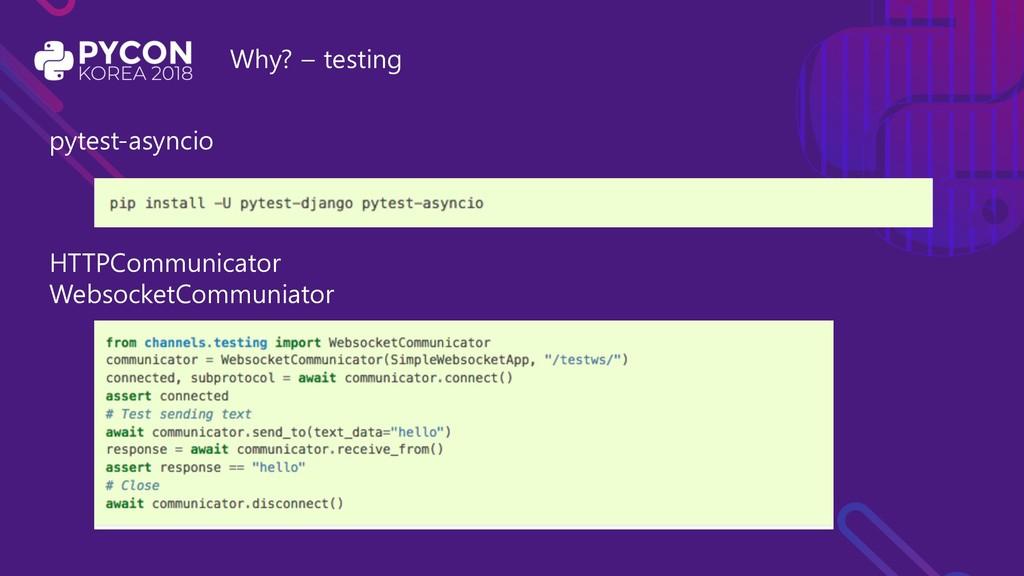 Why? – testing pytest-asyncio HTTPCommunicator ...