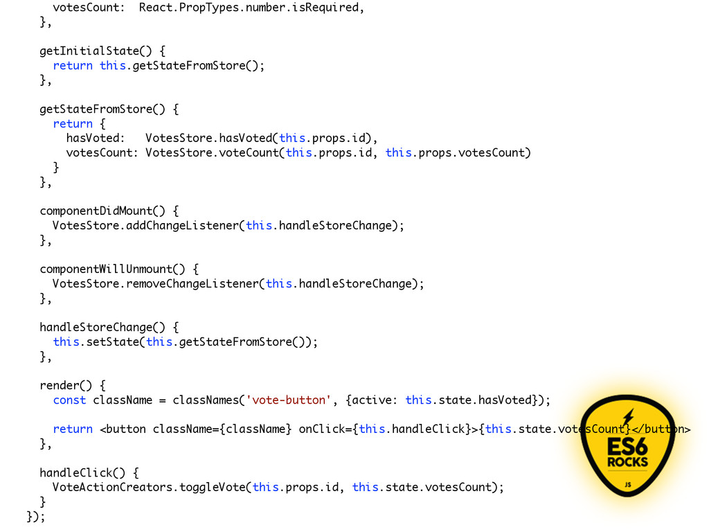 votesCount: React.PropTypes.number.isRequired, ...