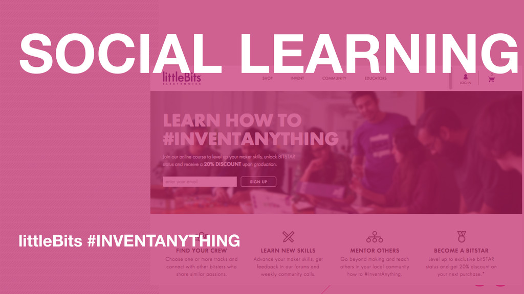 SOCIAL LEARNING littleBits #INVENTANYTHING