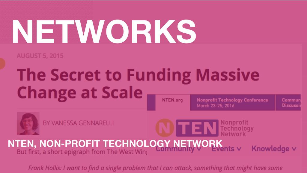 NETWORKS NTEN, NON-PROFIT TECHNOLOGY NETWORK