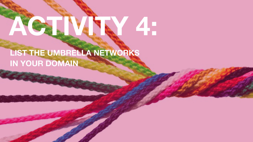 ACTIVITY 4: LIST THE UMBRELLA NETWORKS IN YOUR ...