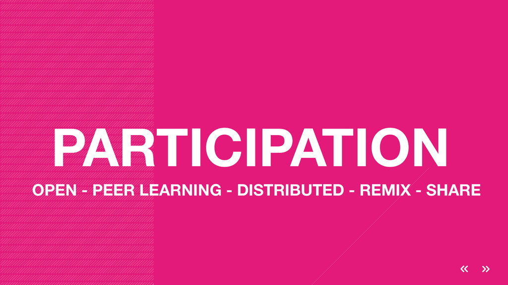 PARTICIPATION OPEN - PEER LEARNING - DISTRIBUTE...