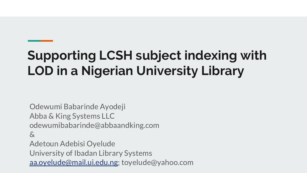 Supporting LCSH subject indexing with LOD in a ...