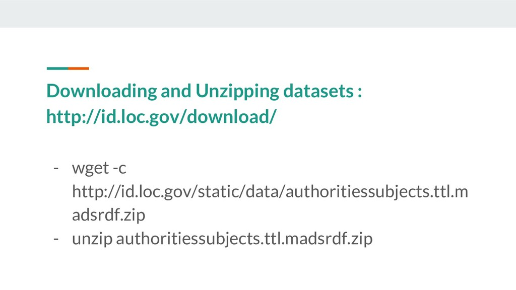 Downloading and Unzipping datasets : http://id....