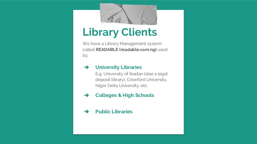 Library Clients We have a Library Management sy...