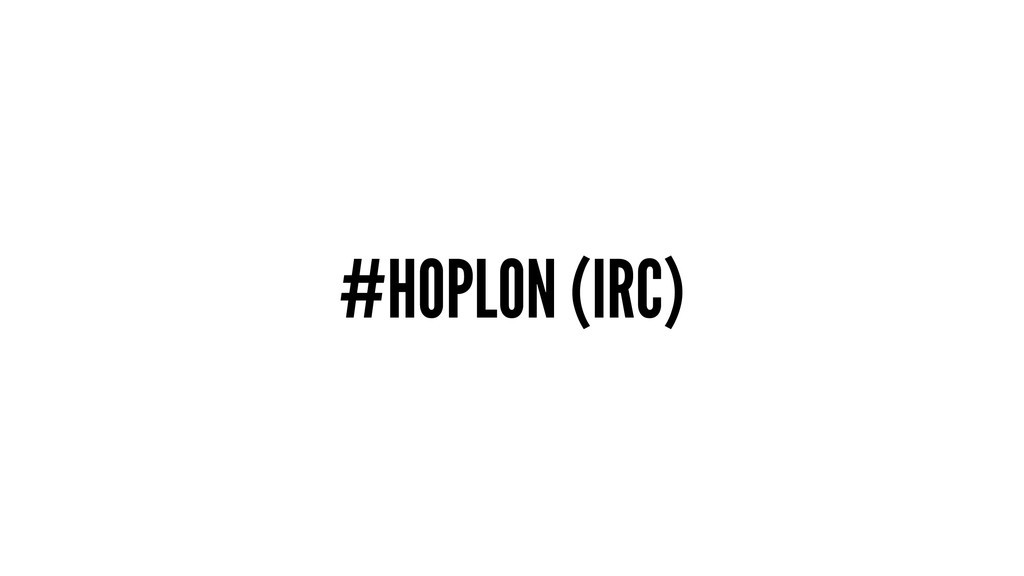 #HOPLON (IRC)