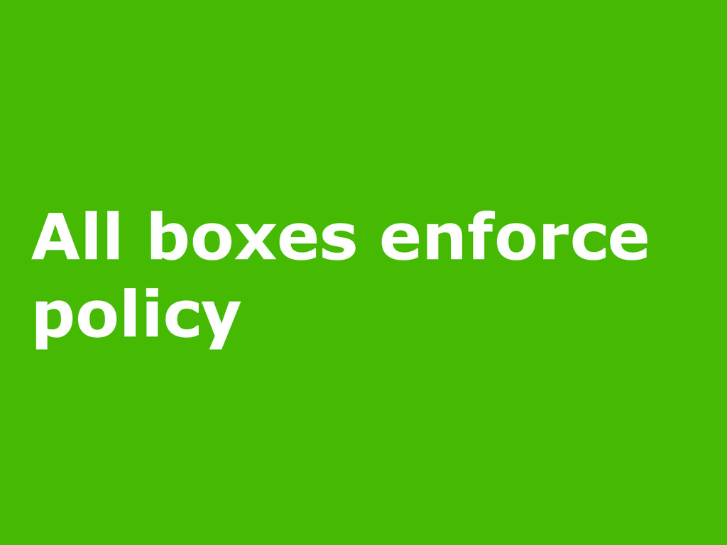 11/16/14 All boxes enforce policy POLICY AS CODE