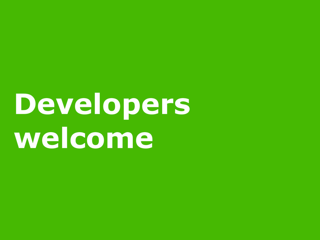 11/16/14 POLICY AS CODE Developers welcome