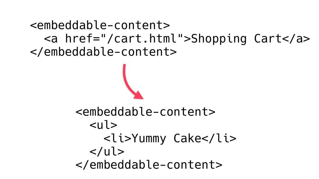 "<embeddable-content> <a href=""/cart.html"">Shopp..."