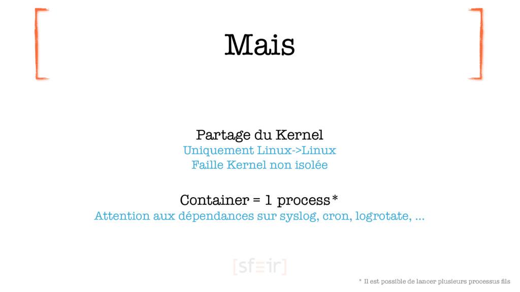 Mais Partage du Kernel Uniquement Linux->Linux...