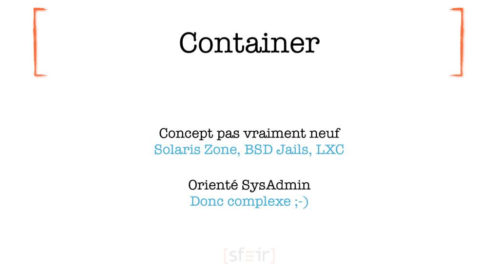 Container Concept pas vraiment neuf Solaris Zo...