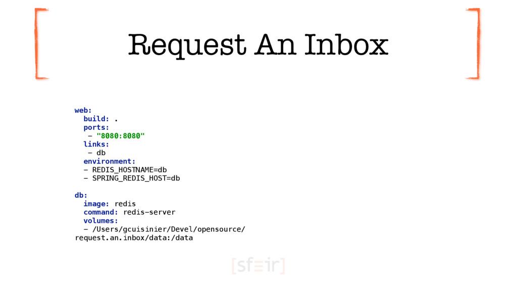 """Request An Inbox web: build: . ports: - """"808..."""