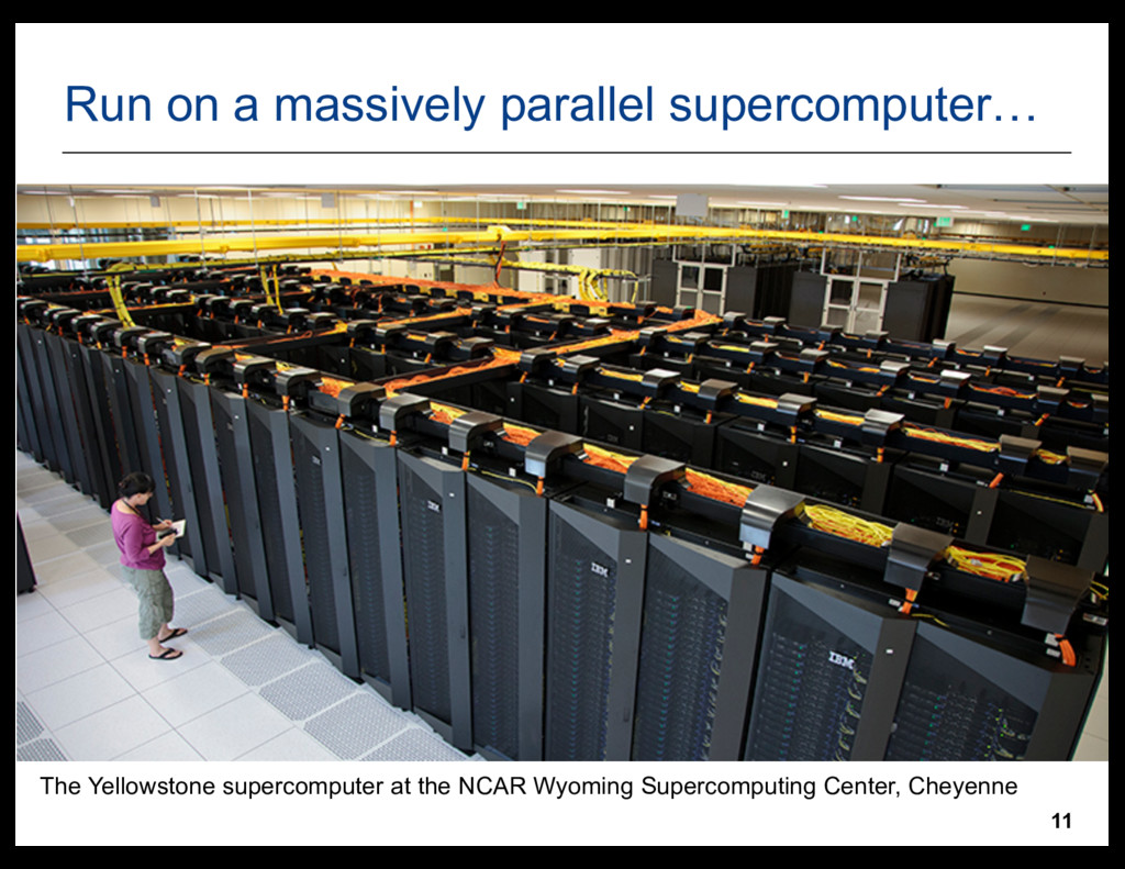 11 Run  on  a  massively  parallel  supercomput...