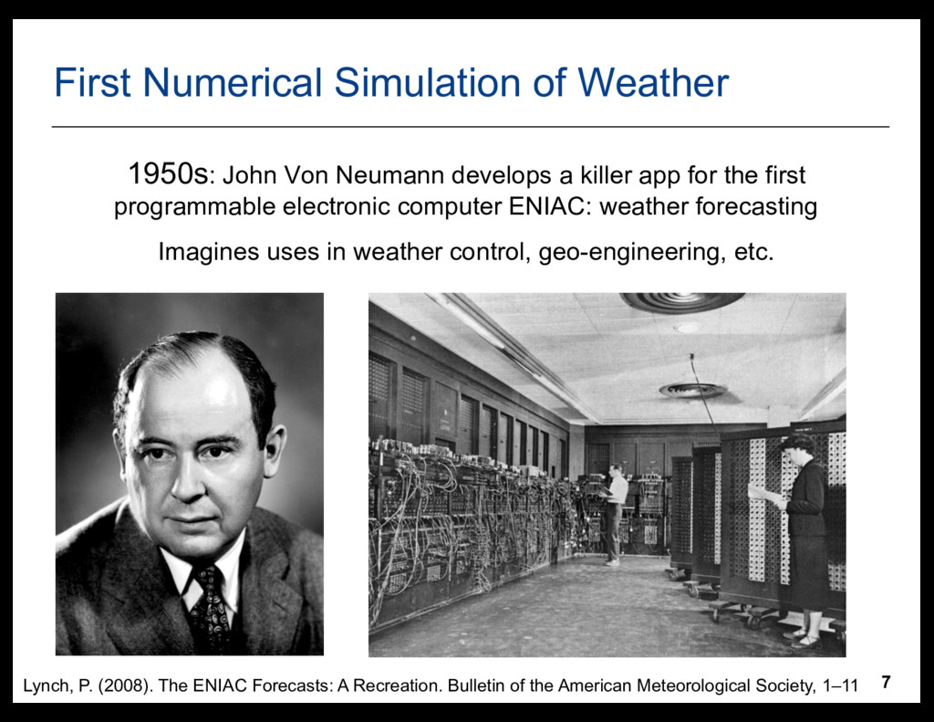 7 First  Numerical  Simulation  of  Weather 195...