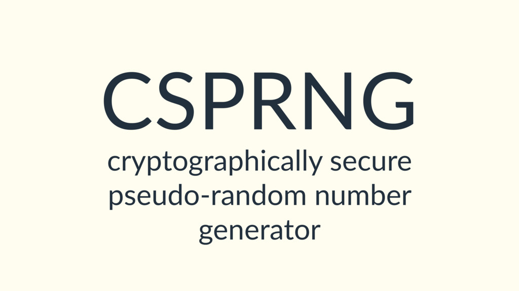 cryptographically secure pseudo-random number g...