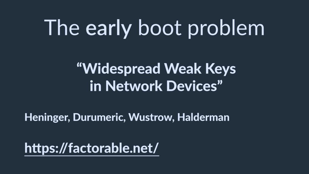 """""""Widespread Weak Keys in Network Devices"""" Henin..."""