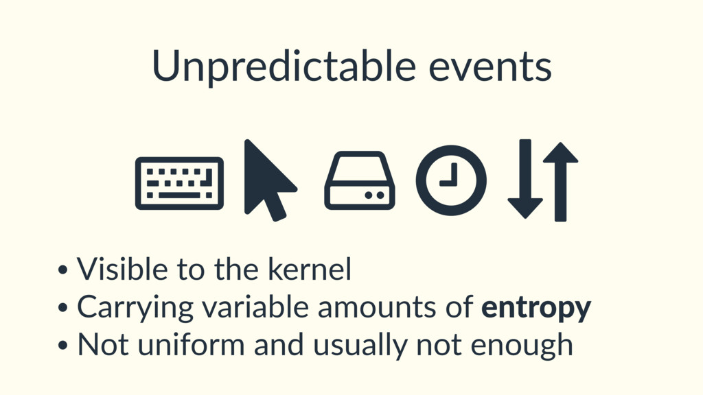 Unpredictable events ȡ Ý • Visible to the kerne...
