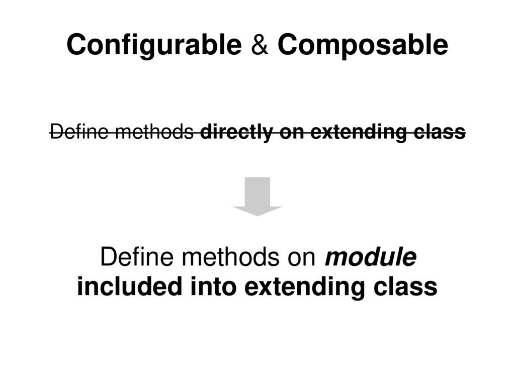 Configurable & Composable Define methods direct...