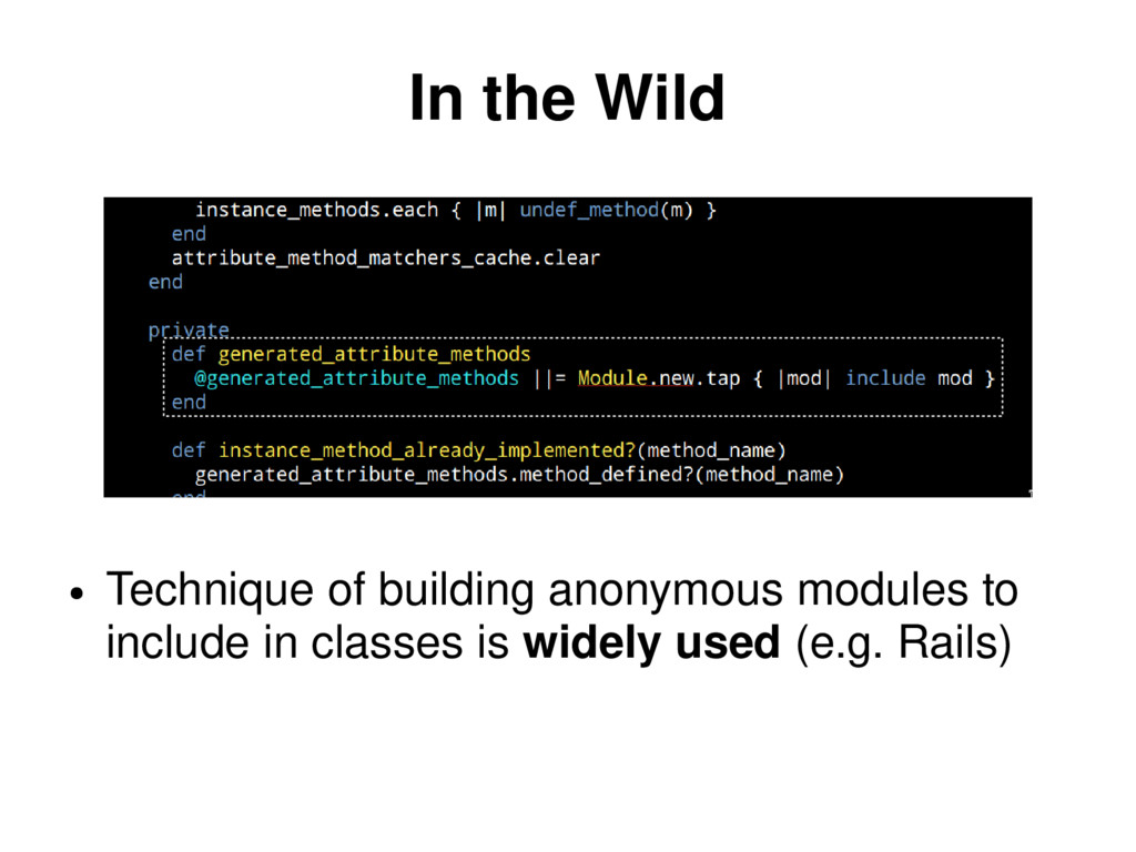 In the Wild ● Technique of building anonymous m...