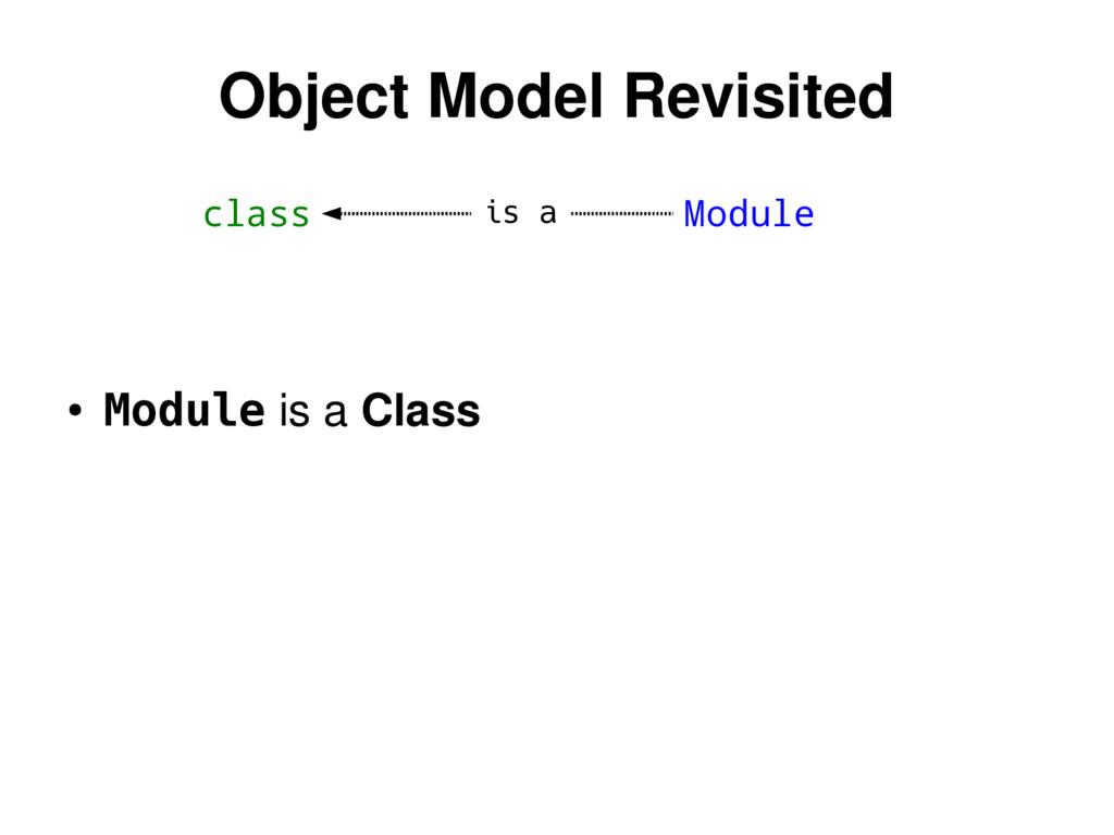 class Module Object Model Revisited ● Module is...