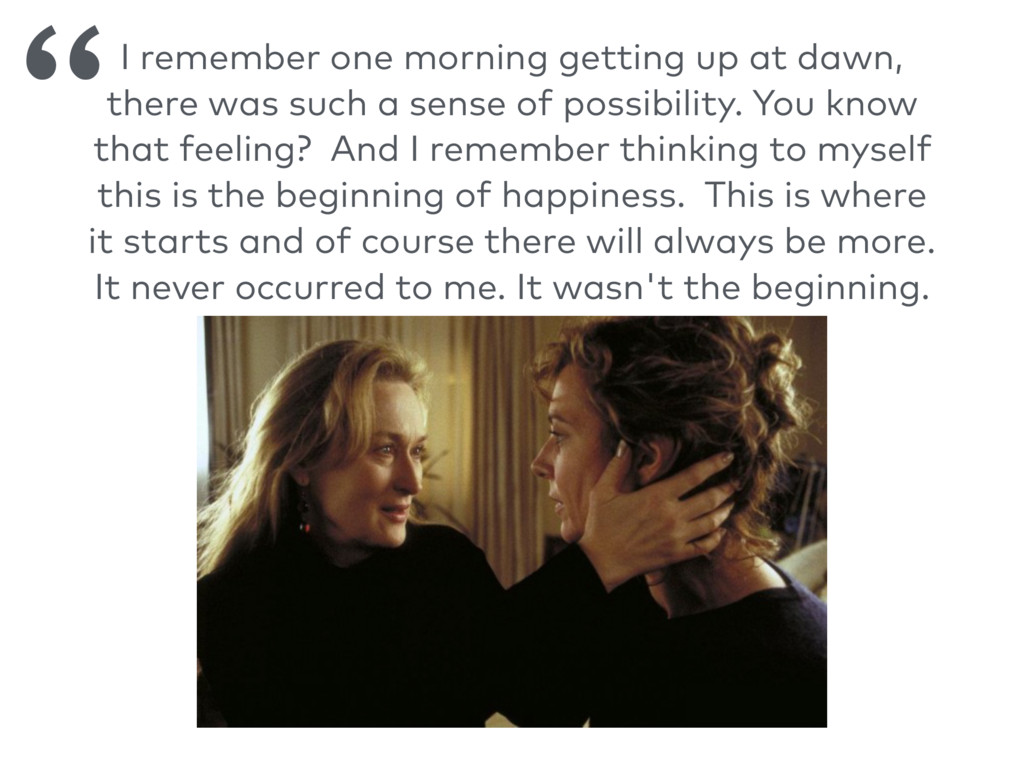I remember one morning getting up at dawn, ther...