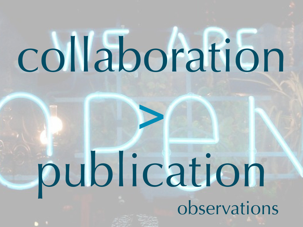 collaboration > publication observations
