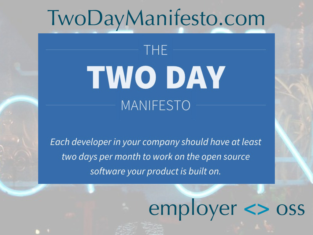 employer <> oss TwoDayManifesto.com
