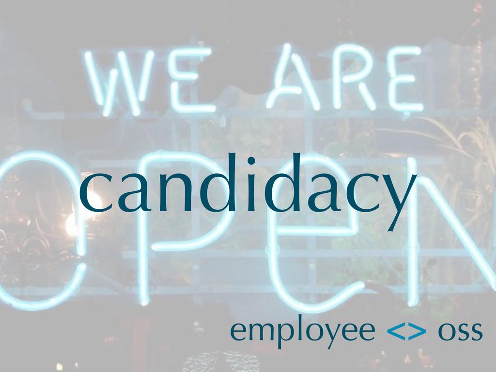 candidacy employee <> oss