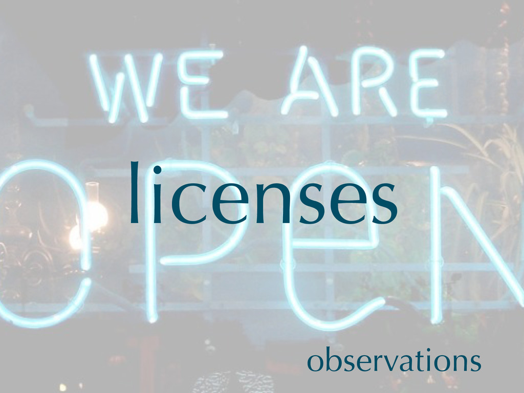 licenses observations