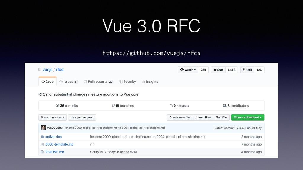 Vue 3.0 RFC https://github.com/vuejs/rfcs