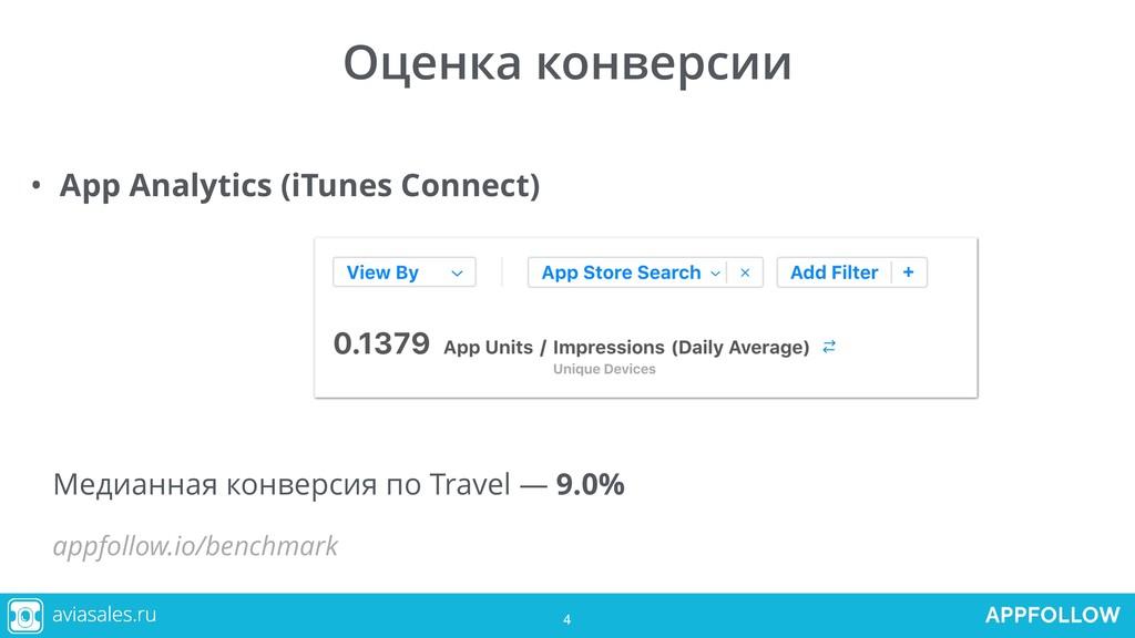 4 Оценка конверсии • App Analytics (iTunes Conn...