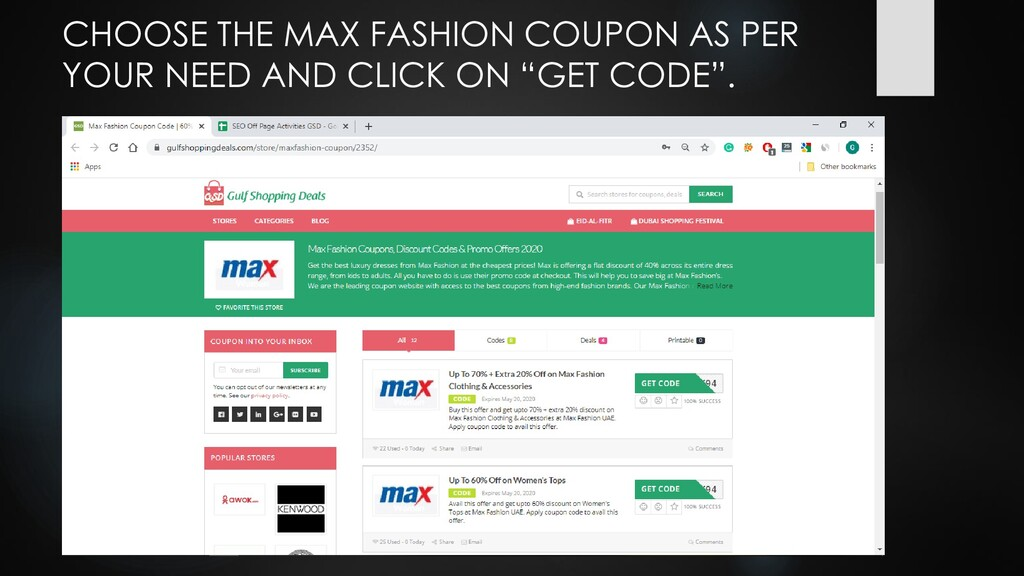 CHOOSE THE MAX FASHION COUPON AS PER YOUR NEED ...
