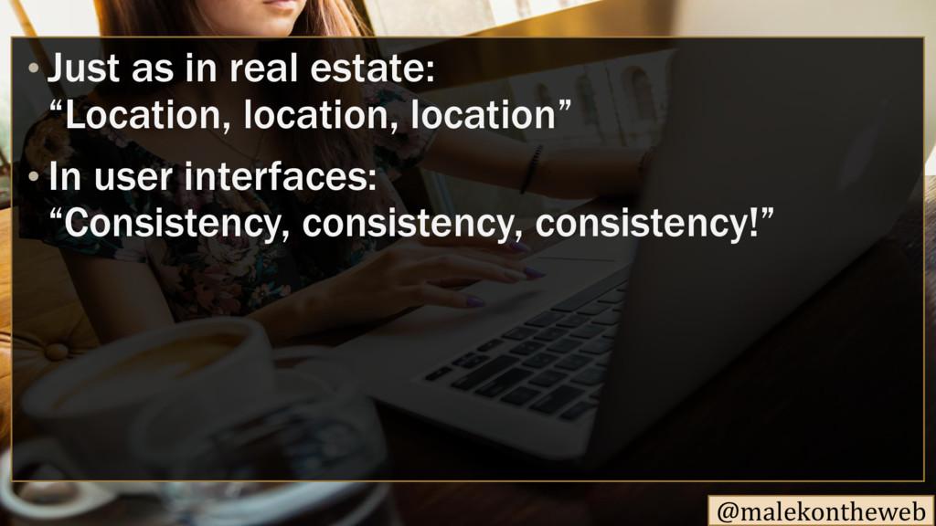 "@malekontheweb • Just as in real estate: ""Locat..."