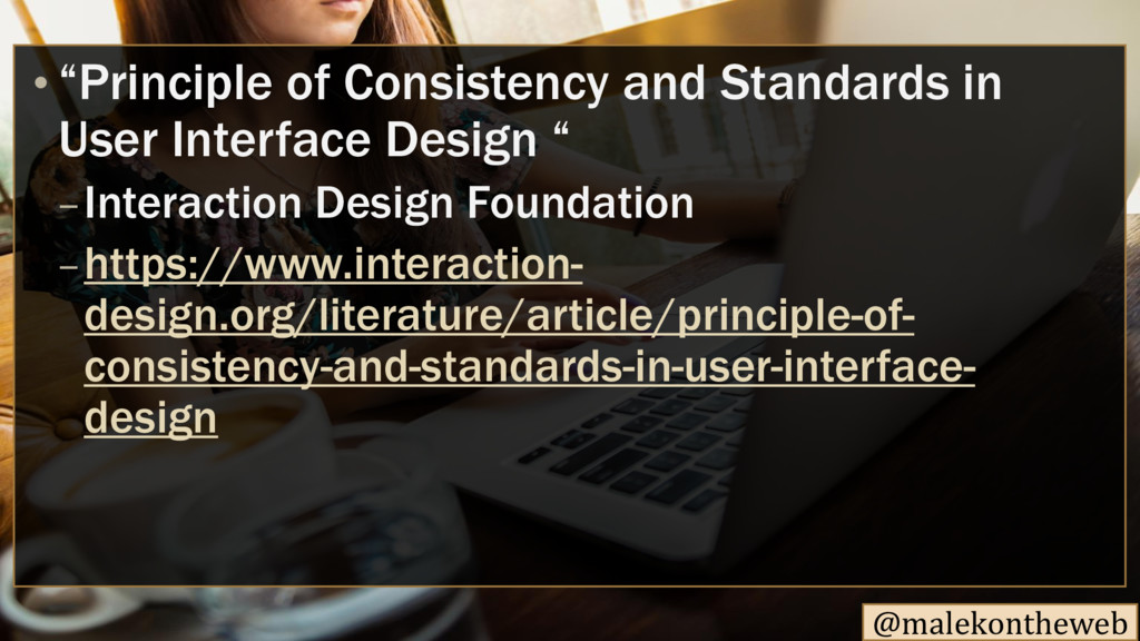 "@malekontheweb • ""Principle of Consistency and ..."