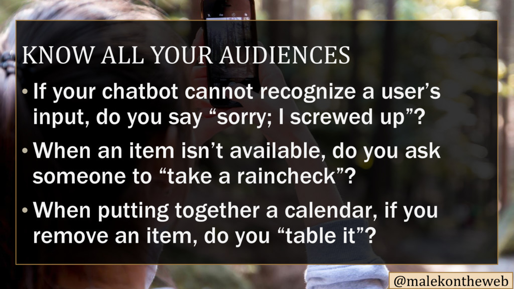 @malekontheweb KNOW ALL YOUR AUDIENCES If your ...