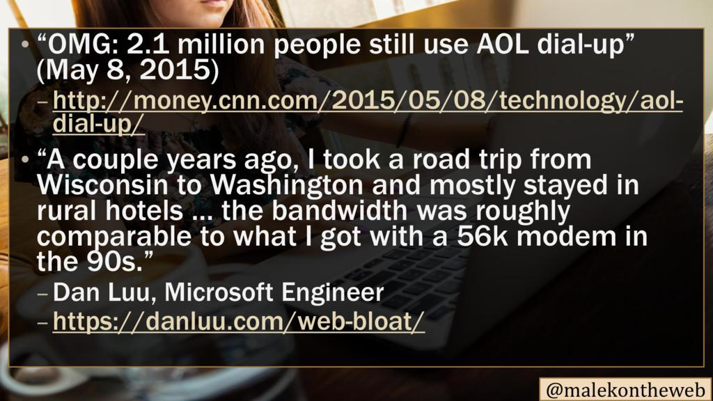 "@malekontheweb • ""OMG: 2.1 million people still..."
